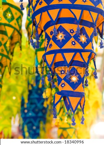 Cloth Indian Lanterns