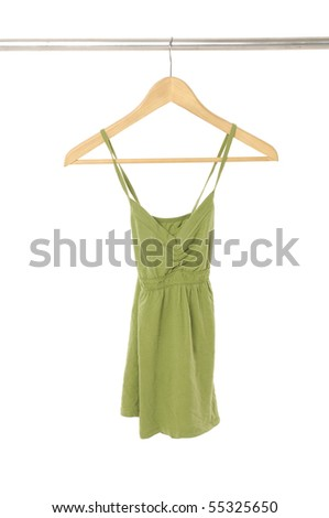 clothe on the hanger