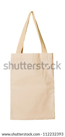 clothes bag isolated white background
