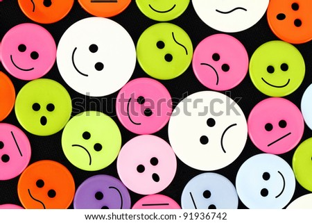 Clothes buttons with funny faces