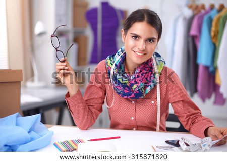 Clothes designer at work
