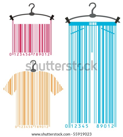 clothes-hanger and barcode