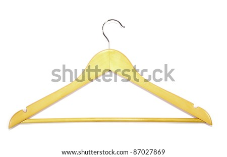 Clothes-hanger for trousers isolated on white.