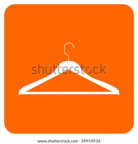 CLOTHES HANGER ICON.