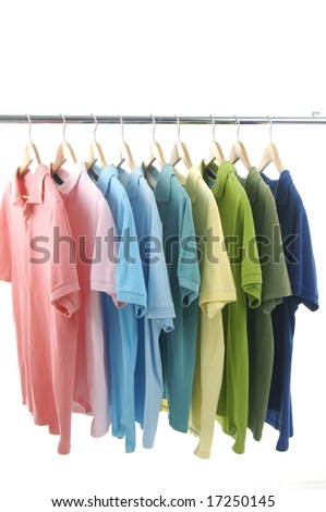 clothes hanger with t shirt