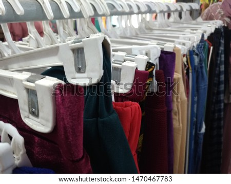 clothes hanging on a clothes hanger