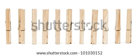 clothes pin isolated on white