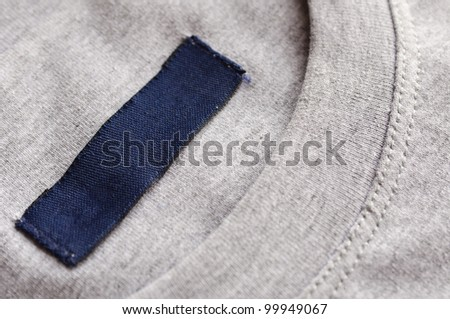 Clothes with blank label.