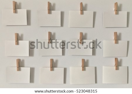 clothespin wood clip picture wall