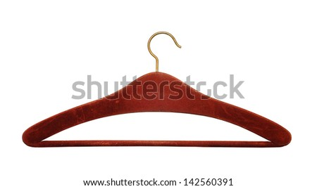 clothing hanger isolated on white