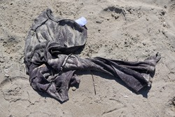 Clothing of a person who was believed to have drowned in the sea.