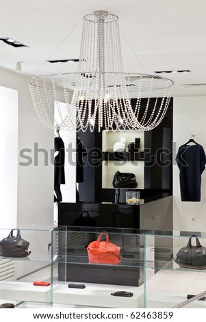stock photo Clothing store interior Save to a lightbox Please Login