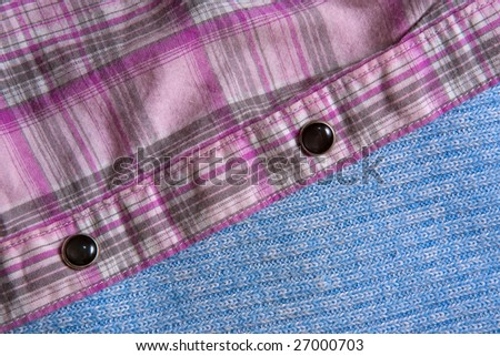 clothing with buttons