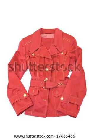 clothing. woman dress. jacket isolated on white