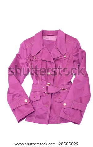 clothing. woman dress. pink jacket isolated on white