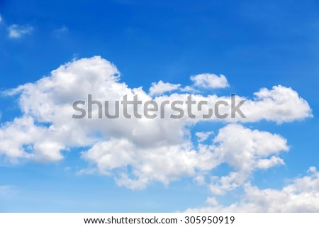 Cloud and Blue sky  - Shutterstock ID 305950919