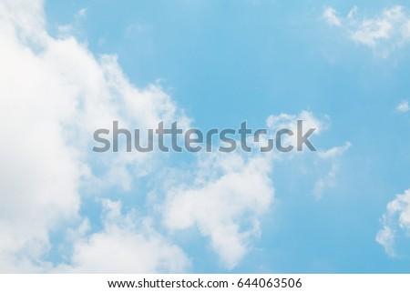Cloud and blue sky. #644063506