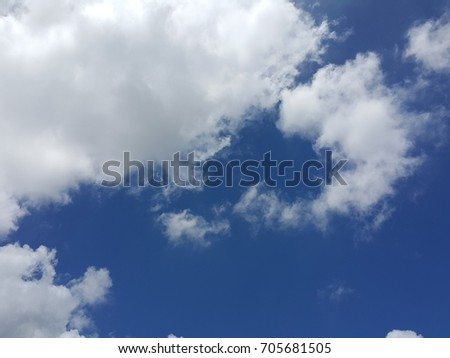 cloud and blue sky in a sunny day #705681505