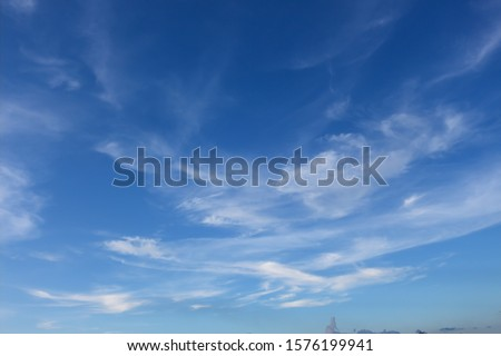 cloud and blue sky in the nice day
