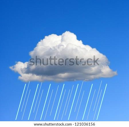 Cloud and rain. - stock photo