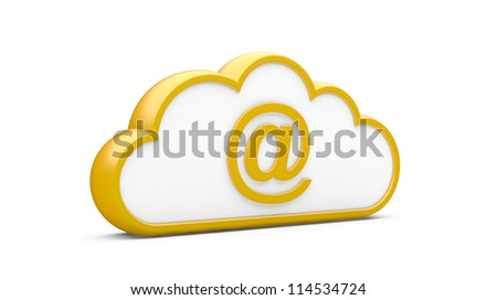 Cloud and sign the Internet on a white background