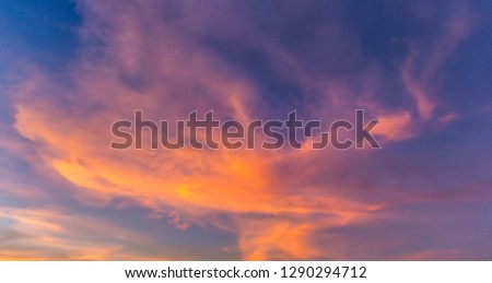 Cloud and sky after sunset in twilight. / Twilight and sunrise with beautiful clouds. #1290294712