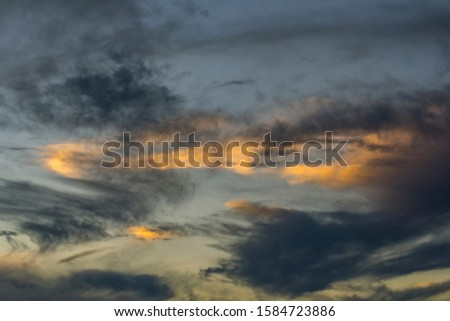 Cloud and sky after sunset in twilight. / Twilight and sunrise with beautiful clouds.