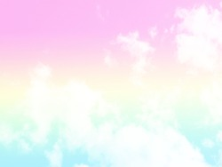 Cloud and sky with a pastel colored background.