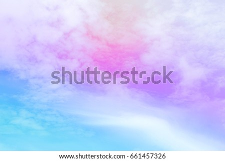 Cloud and sky with a pastel colored background #661457326
