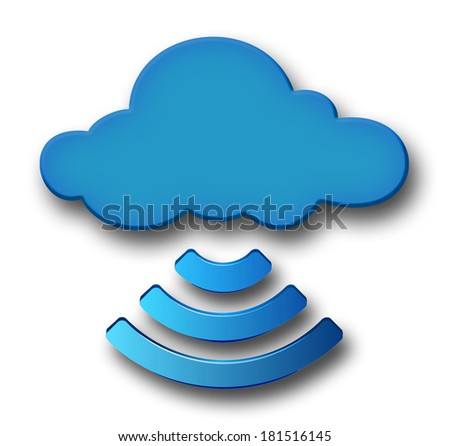 Cloud and Wireless isolated on White