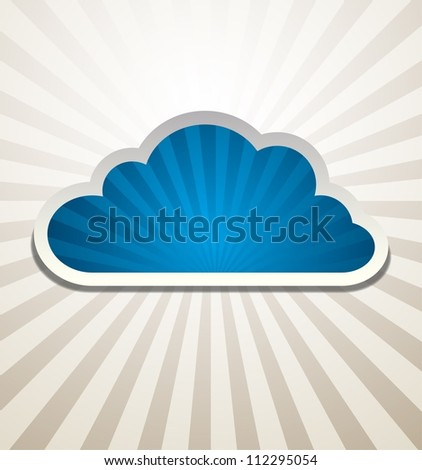 Cloud Background Vector abstract design. Raster version of the loaded vector