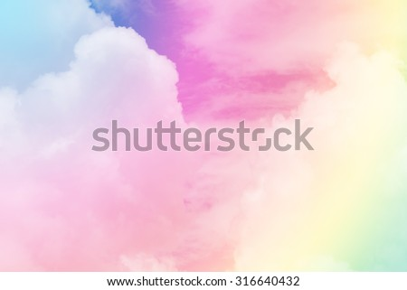 cloud background with a pastel colored gradient.