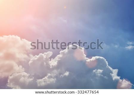cloud blue sky background