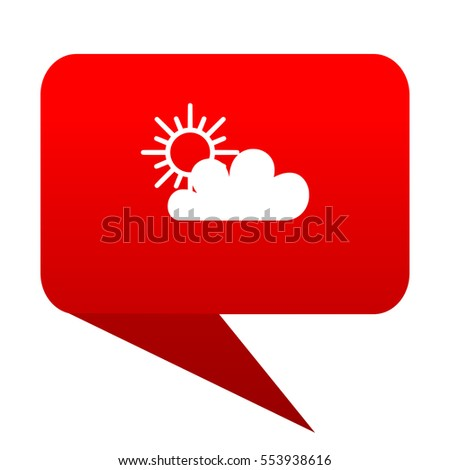 cloud bubble red icon