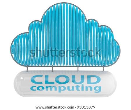 Cloud computing concept. 3D icon