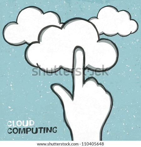 Cloud computing concept illustration. Raster version, vector file available in portfolio.