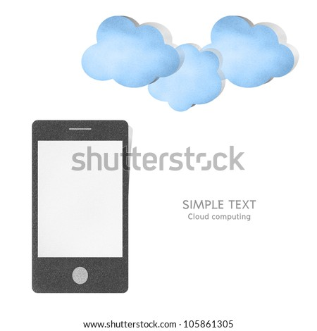 Cloud computing concept paper craft by cork board