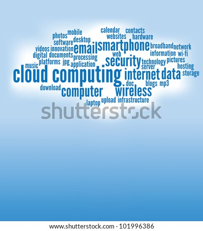 cloud computing concepts background, with copy space.