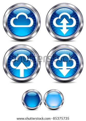 Cloud Computing glossy Icons - raster version