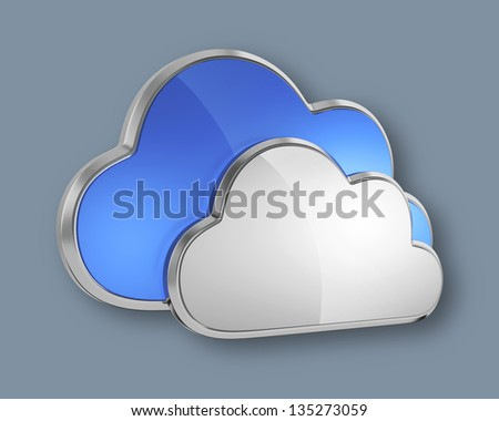 Cloud computing icon.(clipping path available in path channel)