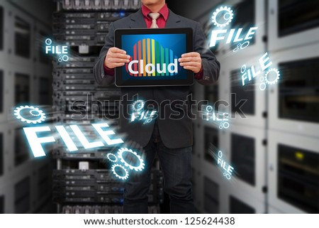 Cloud computing in data center room
