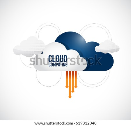 cloud computing links and networks concept illustration design graphic