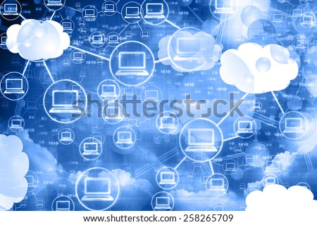 Cloud computing network , abstract background