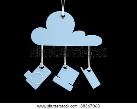 Cloud Computing Retro symbolConcept