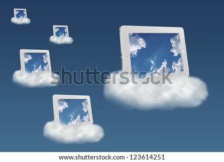 Cloud computing technology concept