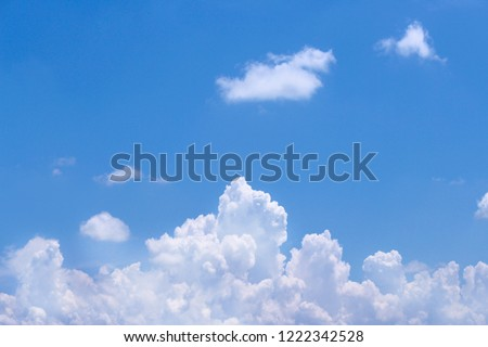 Cloud groups patterns on bright bluesky background in summer day
