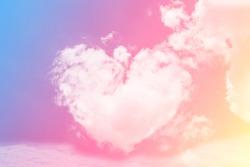 cloud heart shape love concept tone