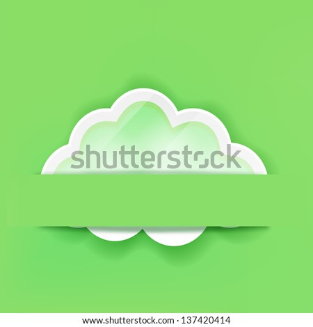 cloud icon on green