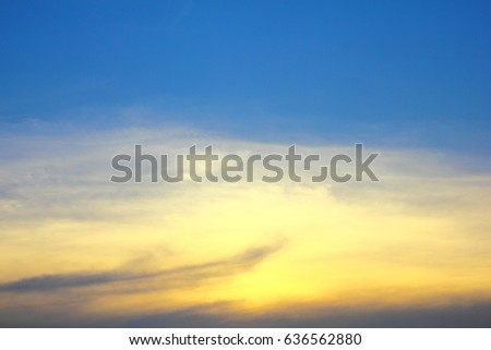 Cloud in blue sky #636562880