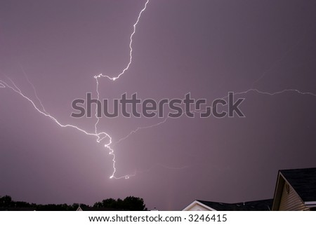 cloud lightning thunder storm weather rain